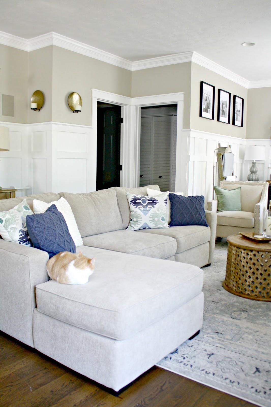 mini family room makeover complete