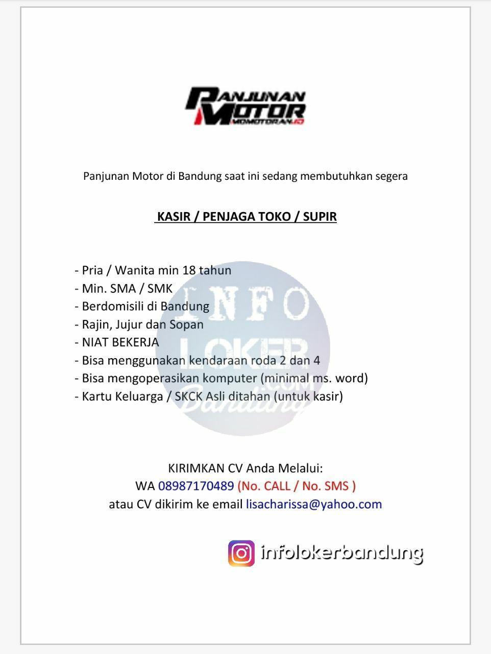 Lowongan Kerja Panjunan Motor Bandung April 2018