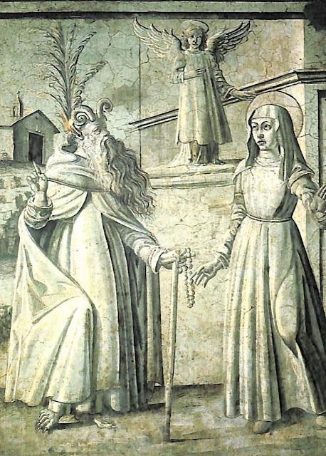 O demônio fingiu ser Santo Onofre para dissuadi-la de fundar as Oblatas.