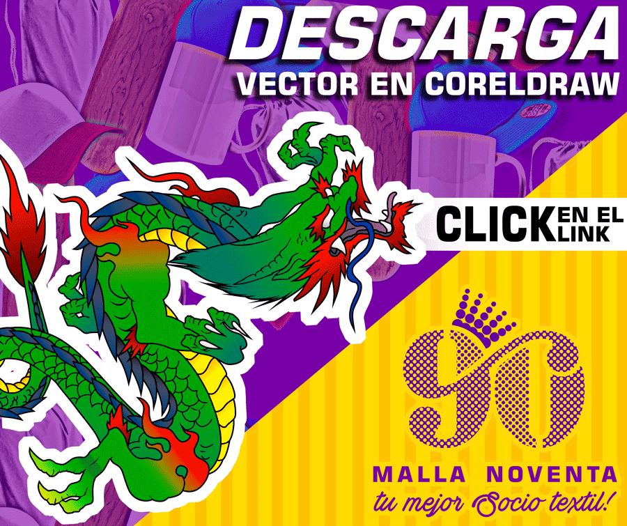 Vectores Gratuitos Dragon tattoo en CorelDraw