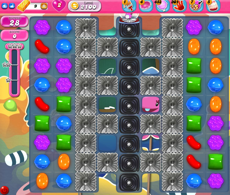 Candy Crush Saga level 2100