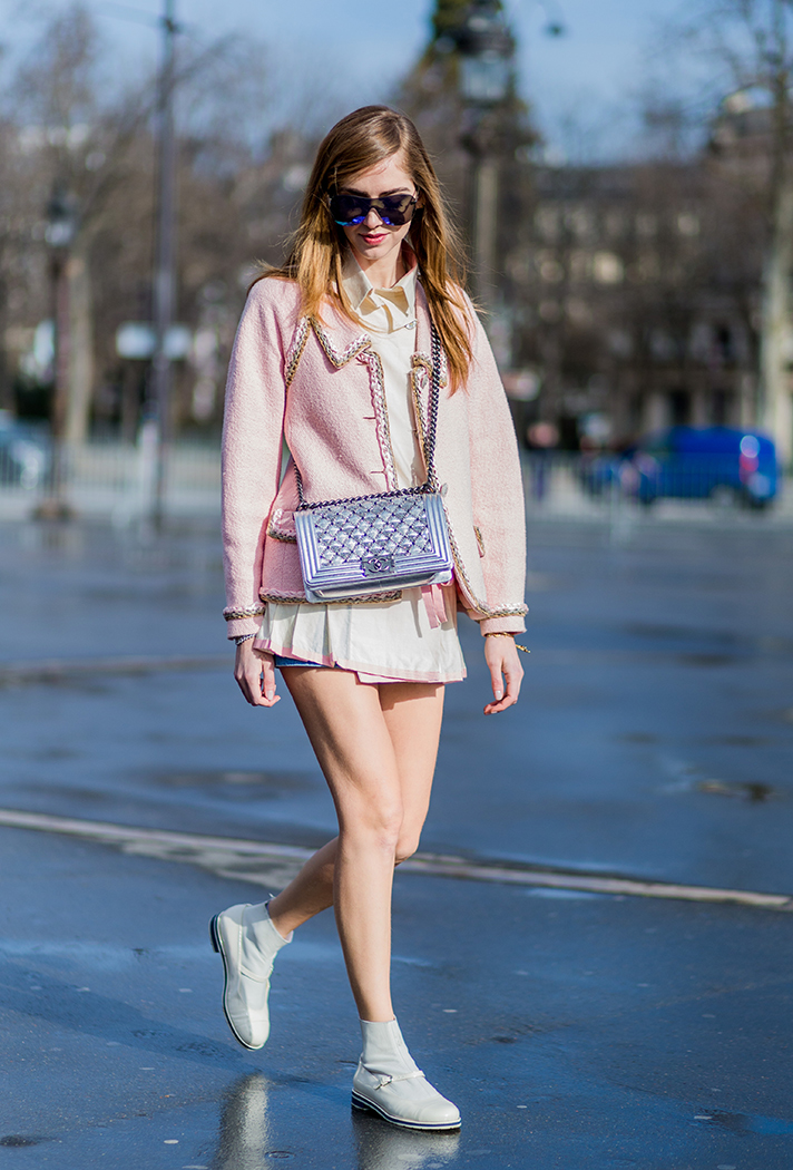 Chiara Ferragni  Paris Fashion Week Street Style - stylecaster
