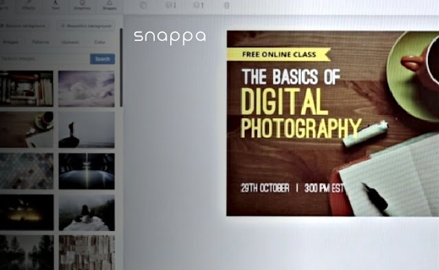 Merupakan aplikasi desain Grafis berikutnya, snappa memiliki keunggulan dalam pengeditan foto, kamu dapat menambahkan beberapa efek video di dalam aplikasi snappa ini