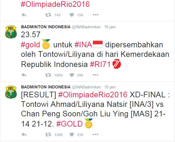 Skor Akhir Gold Medal Pasangan Ganda Campuran Indonesia 21-14,21-12.