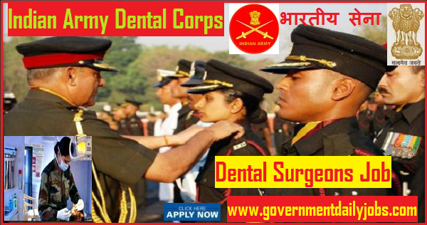 Indian Army Dental Corps Recruitment 2018 Application Form 34 Posts