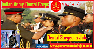 Army Dental Corps Jobs Recruitment Notification 2018 for 34 Posts