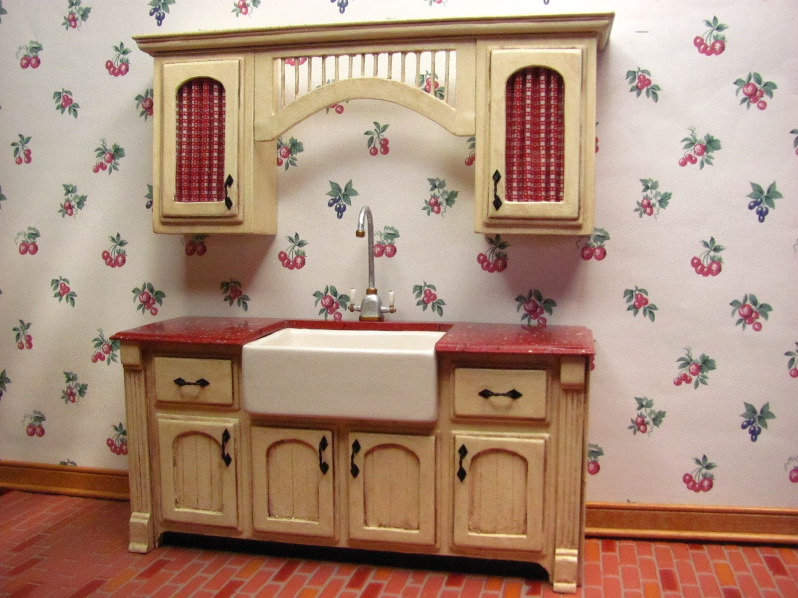 Dollhouse Miniature Kitchen Cabinet