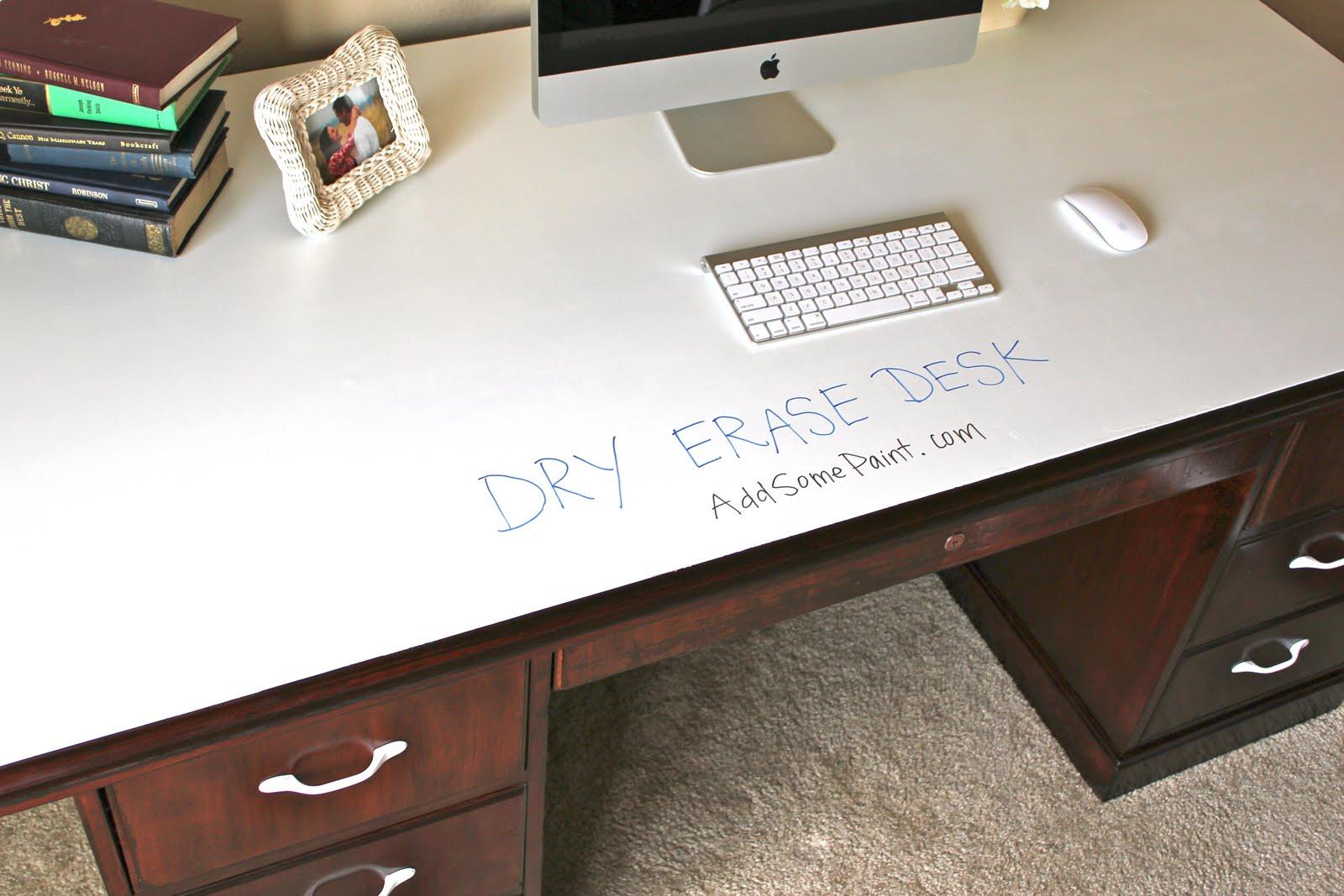 Remodelaholic Dry Erase Painted Desk