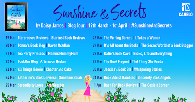 Sunshine & Secrets by Daisy James Blog Tour Banner