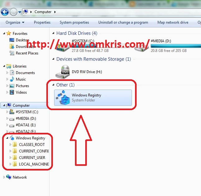 Cara Menambah Registry Editor di Menu Explorer My Computer Windows