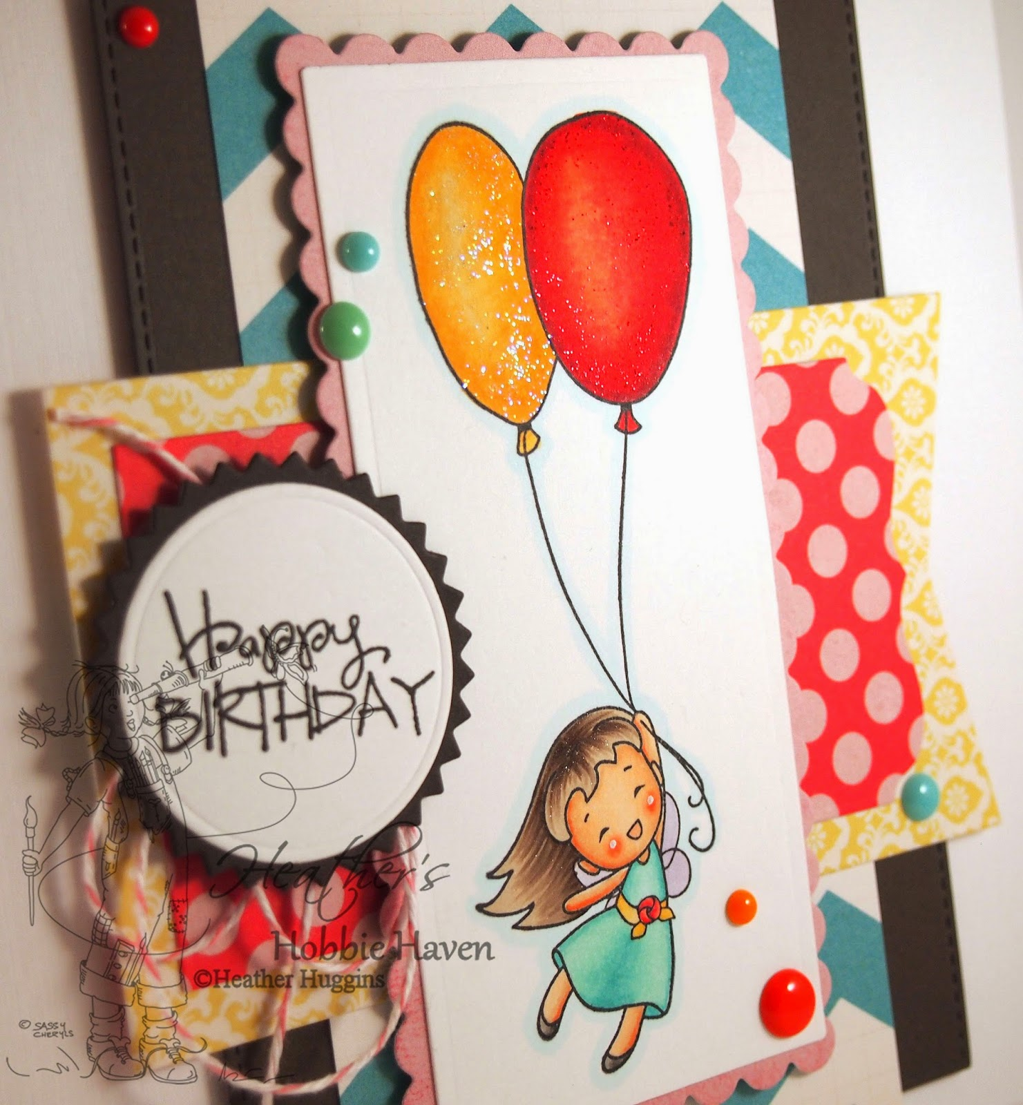 Heather's Hobbie Haven - Daphne's Balloon Card Kit
