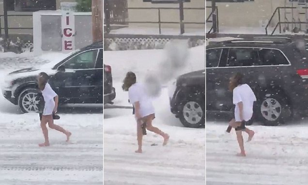 Woman spotted sneaking home in West Virginia snowstorm