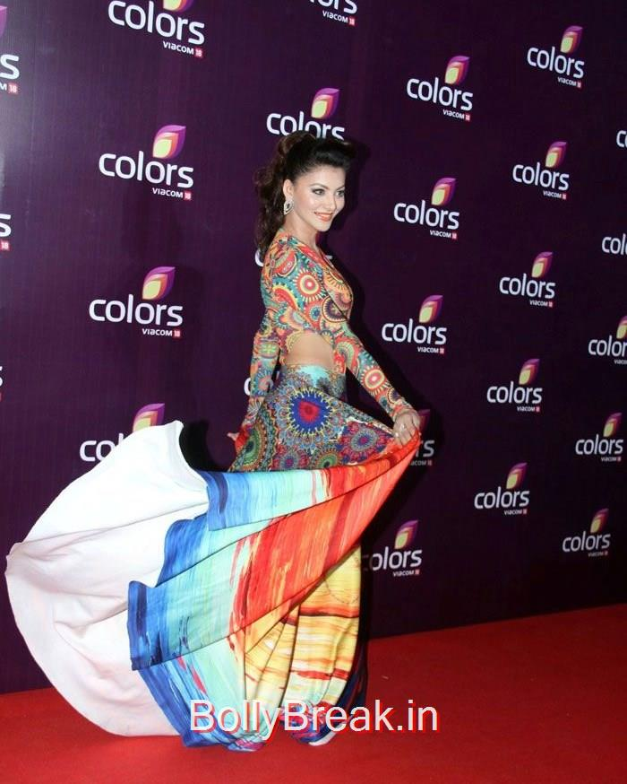 Urvashi Rautela, Malaika Arora Khan Sridevi Hot HD Images At Colors Leadership Awards 2015