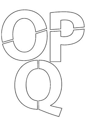 Moldes de Letras OPQ