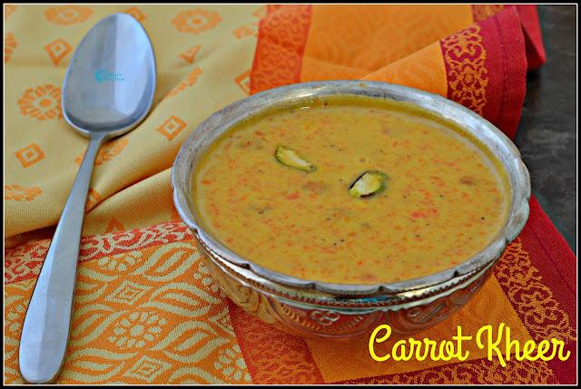 Carot Kheer(Carrot Payasam)
