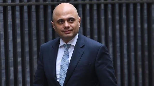 Sajid Javid appointed new UK home secretary