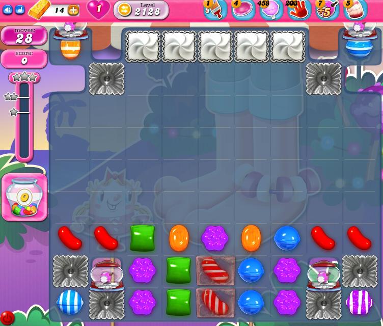 Candy Crush Saga level 2128