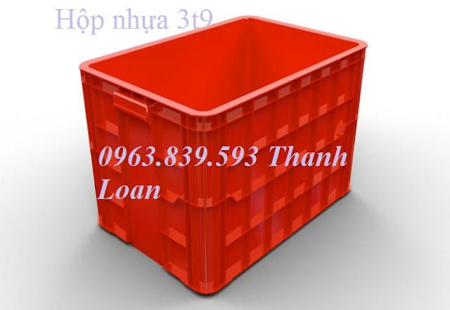 Hộp nhựa 3T9, hộp nhựa đặc đựng hải sản, hộp nhựa công nghiệp 0963.839.593 Hs026-01