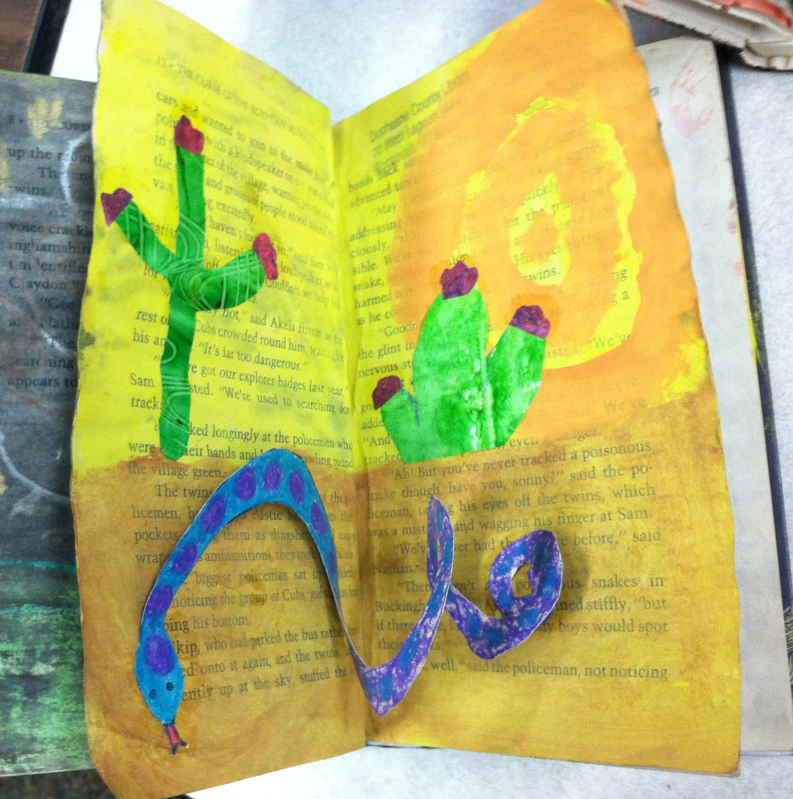 Art At East Union And More 2nd Grade Desert Habitat