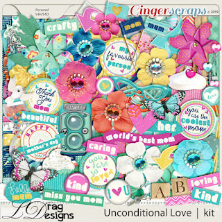 Creative Team for LDrag Designs -   Unconditional Love and Coordinating Freebie
