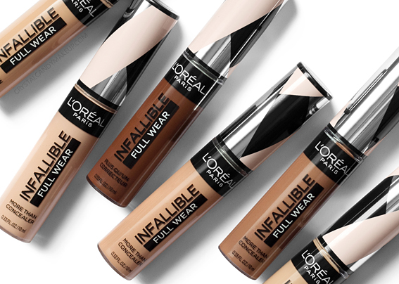 L'Oréal Paris Infallible Full Wear More Than Concealer Review Photos Swatches All Shades Before After MAC Equivalents