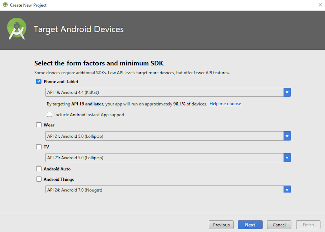 Select Android SDK