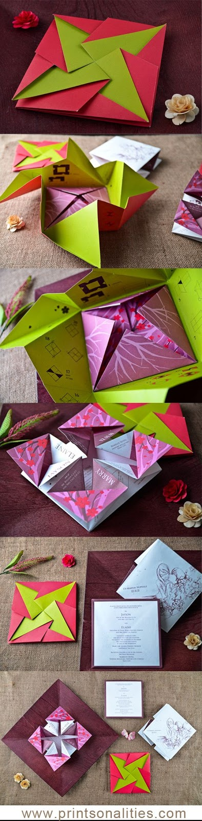 origami's wedding invite