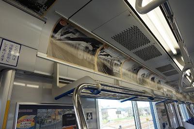 東武鉄道50090系51092Fフライング東上号リバイバルカラー車内広告