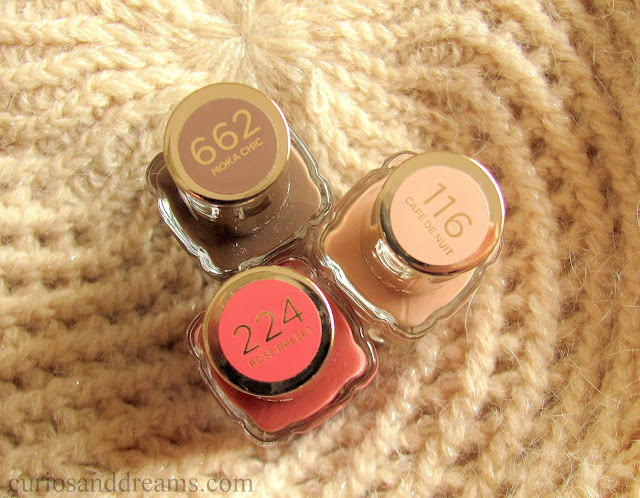 L'Oreal Color Riche A L'Huile Nail Varnish review,  L'Oreal rose ballet review, loreal moka chic review, loreal cafe de nuit review