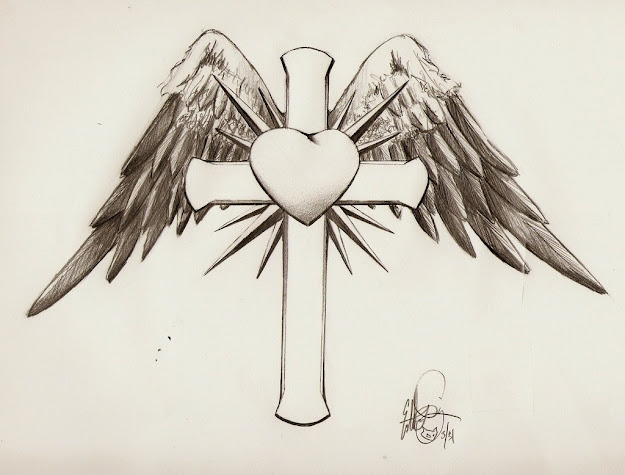 Cross With Wings Tatoos  Bing Images
