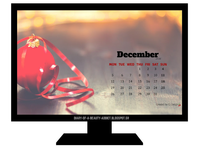 FREE December 2016 Desktop Wallpaper Calendar