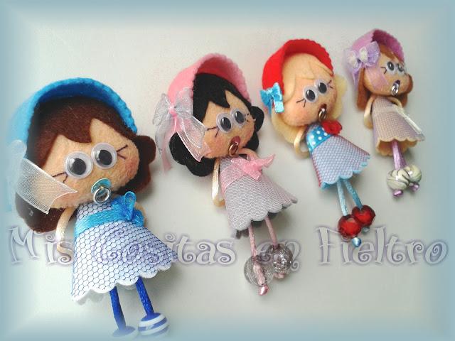 chupetina, chupetinas, broche bebé, broche niña, broche de fieltro, broche en fieltro, baby felt pin, baby brooche