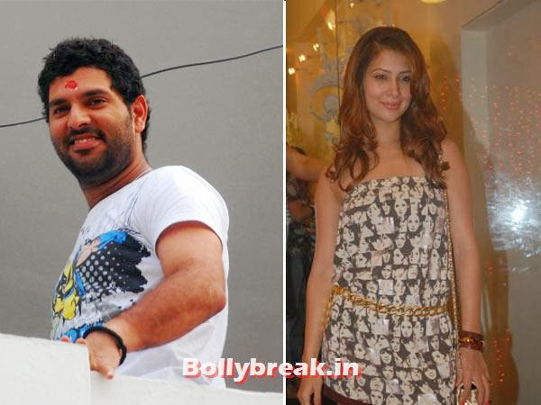 "Yuvraj Singh and Kim Sharma:  The starlet and the  all-rounder broke up and patched up several times, but had to apparently  call it quits finally when his mum didn't ""approve"" of her as a  prospective bahu.