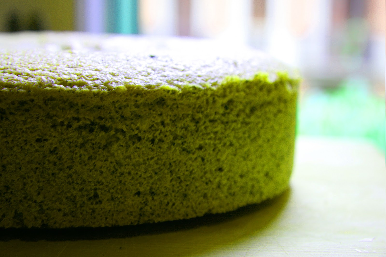 cooking with japanese green tea matcha sponge cake with. Black Bedroom Furniture Sets. Home Design Ideas