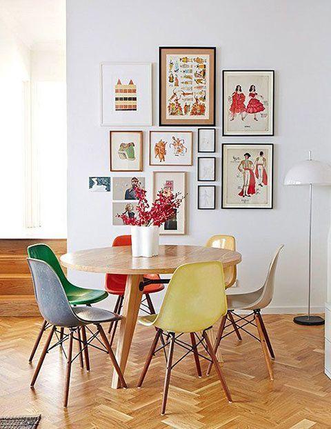 cadeiras Eiffel na decoração sala jantar