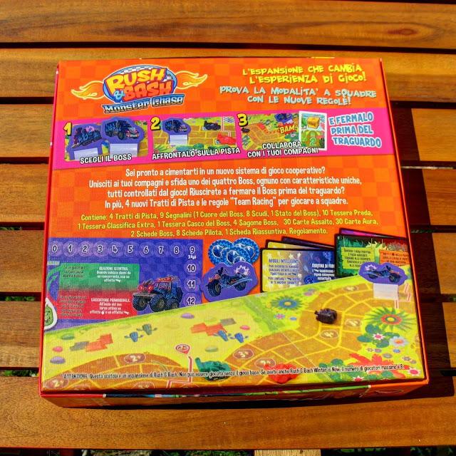 Retro della scatola di Monster Chase