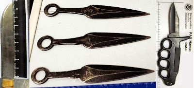 Left - Right: Knives Discovered at CLT, SJC & PVD
