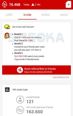 Aplikasi Cashtree - Pulsa Gratis Android