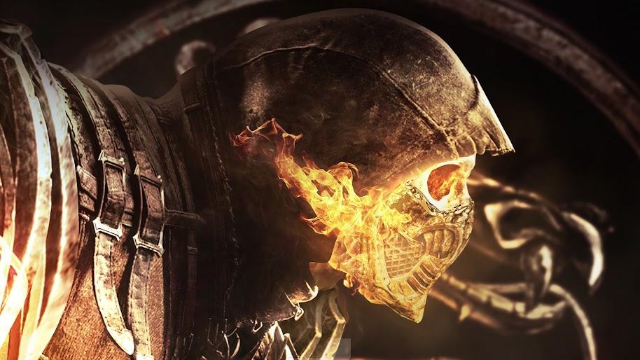 Scorpion, Skull, Flaming, Mortal Kombat 11, 4K, 3840x2160, #38