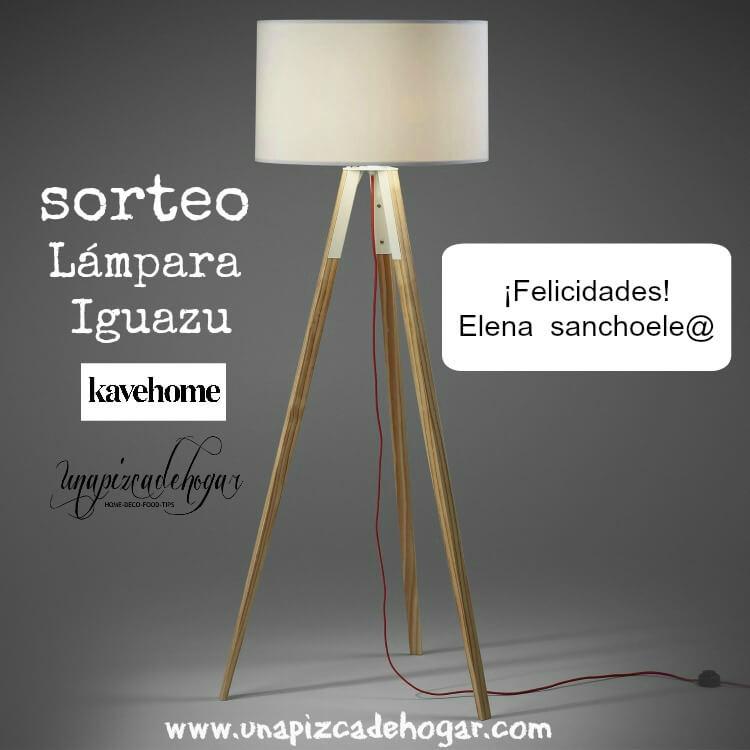 lámpara trípode