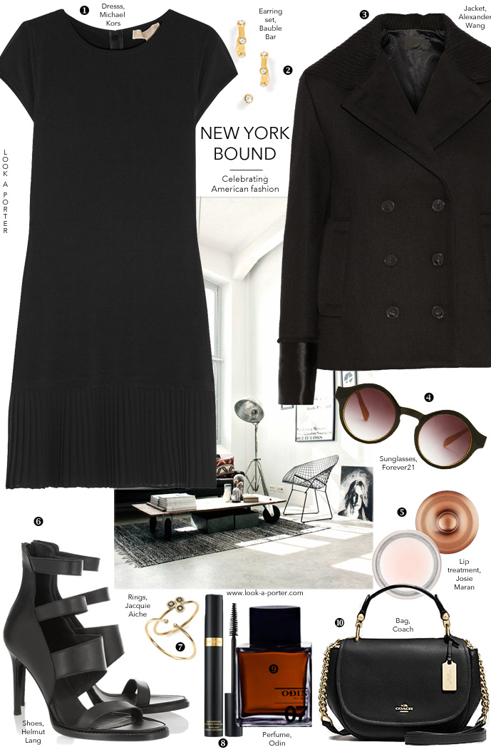 Inspired by New York fashion week, all black outfit idea via www.look-a-porter.com style & fashion blog