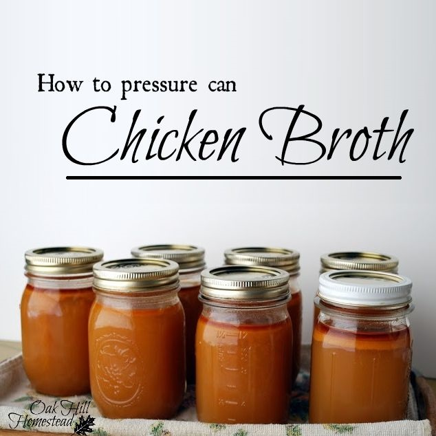 How to pressure can chicken broth.