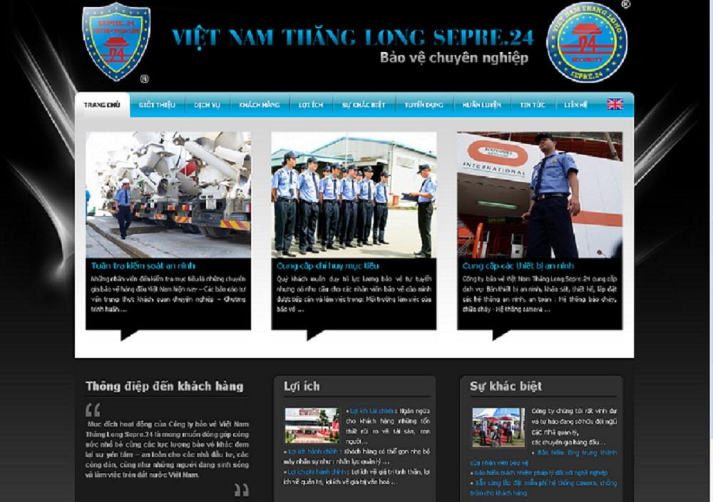 dịch vụ thiết kế website công ty bảo vệ giá rẻ