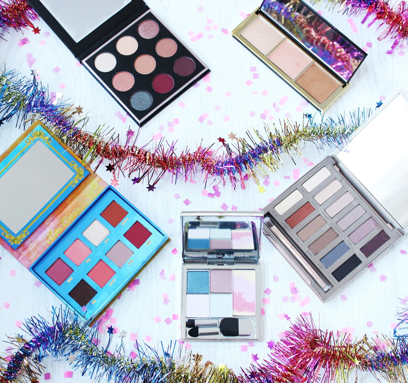 7 must have christmas palettes from Clarins, Autograph, Lime Crime, Manny MUA, Makeup Geek, Urban Decay, Pur, RMK