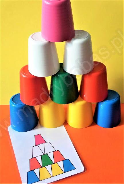 wieże z kubków, piramidy z kubków z ikei wzory, kubeczki kodowanie