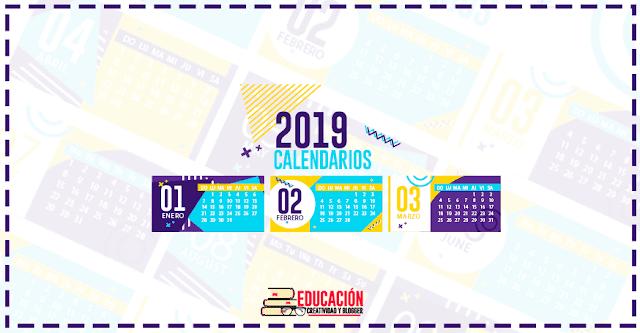 Calendarios 2019 gratis: Las mejores plantillas editables