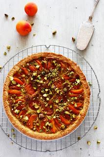 Abrikozen-pistache taart