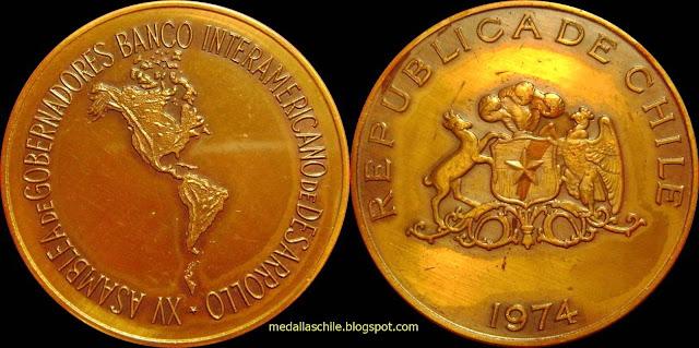 Medalla Asamblea Gobernadores BID 1974