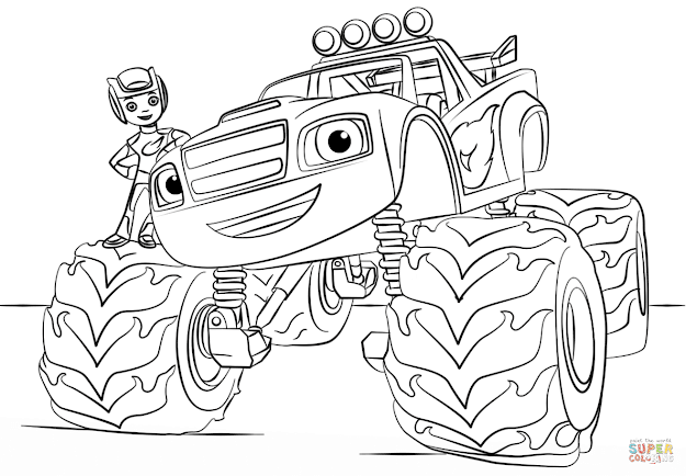 Click The Blaze Monster Truck Coloring Pages