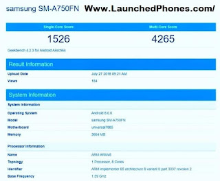 This is the upcoming Samsung smartphone  Samsung Milky Way A2019 is listed on Geekbench